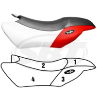 Wlite Seat Cover for Yamaha 2008 GP1300R 2001 GP800 2003-2005 GP 800R